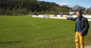 Rudolf Vieweger Auf dem FC-Gelände