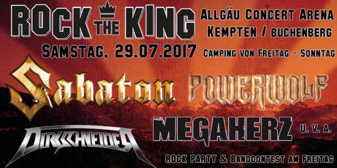"""Mit Füssen aktuell zum Festival """"Rock the King"""""""