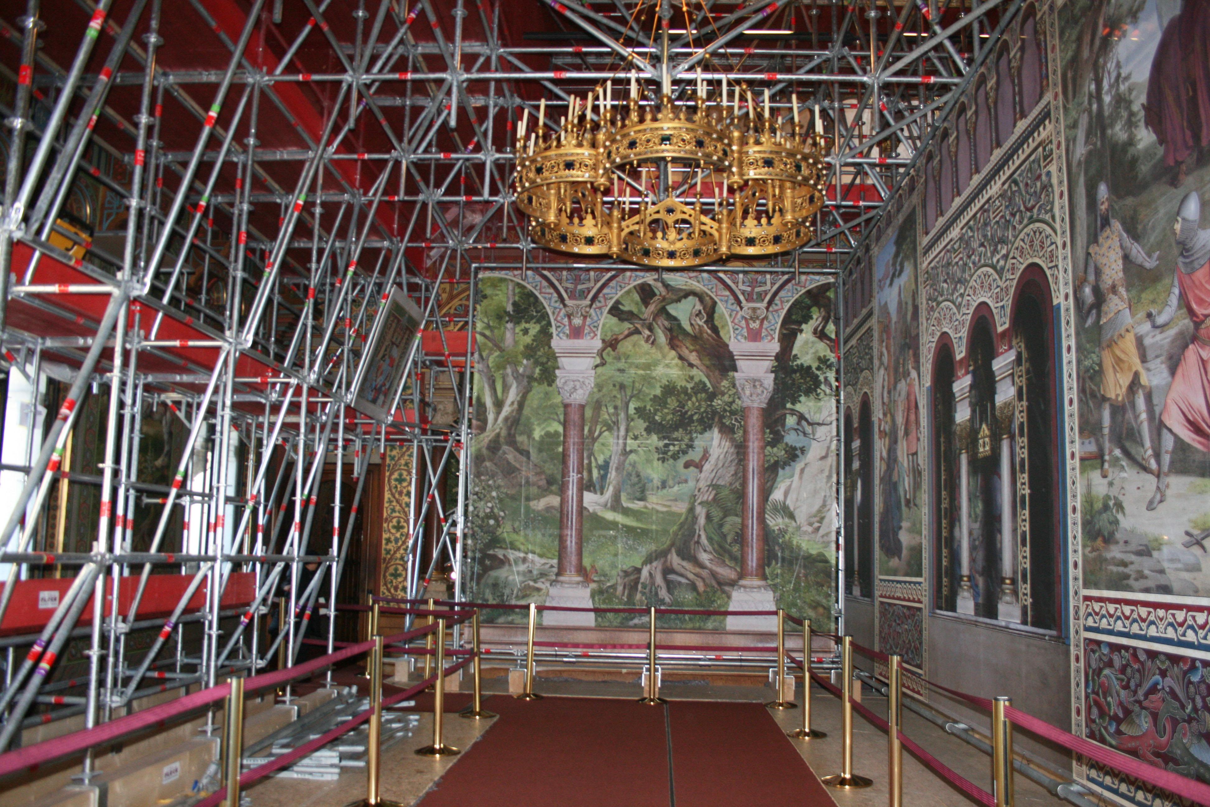 Die Renovierung Von Schloss Neuschwanstein Schreitet Voran
