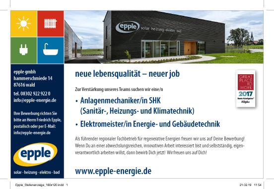 Photo of Epple-Energie sucht Anlagenmechaniker und Elektromeister