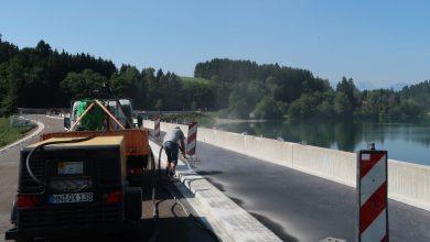 Photo of Der Forggensee Damm ist wieder befahrbar