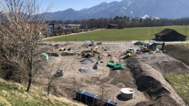 Photo of Bauarbeiten für die Kindertagesstätte mit AWO-Familienzentrum im Füssener Weidach haben begonnen