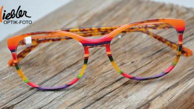 Bild von Brillen-Anprobe an der frischen Luft